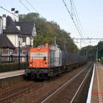 28 Oktober 2011: Klimmen-Ransdaal/  203 163 (locon) met vuiltrein uit Haanrade.
