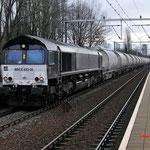 12 December 2015: Eindhoven Beukenlaan / 653-05 RRF met de dolime trein richting Veendam