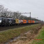 9 Februari 2015: Horst / 189 201 ERS Met Weil am Rhein-Shuttle richting Venlo.