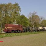 Lieren: 2299 van de VSM zien we hier bij Lieren tijdens een fotostop met een goederentrein van Apeldoorn naar Beekbergen.