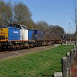 26 Maart 2012: Landgraaf / 203-3 Locon-VR Is met de beladen huisvuiltrein (50094) onderweg naar Maastricht om daarna via eindhoven naar de Vam tegaan