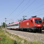 7 Juni 2016: Silberwald / 1116 102 OBB Met een overbrenging van 2 rijtuigen richting Gänserndor