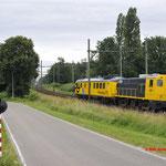 8 Juli 2016: Boxtel / 2205 SHD Met het CTO meetrijtuig onderweg vanuit Amersfoort naar de ZLSM.