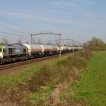 20 April 2015: Boxtel / 6605 CT Met keteltrein uit Lutdsm richting Roosendaal.