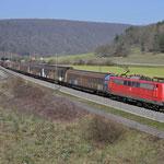 17 Maart 2016: Harrbach / 151 008 Met een Unit cargo richting Wurzburg