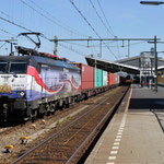 21 April 2016: Tilburg / ERS 189 212 Met een containertrein richting Rotterdam.