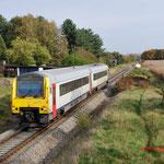31 Oktober 2014: Overpelt / 4132 NMBS vanuit Neerpelt onderweg naar Antwerpen.