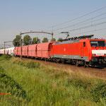 23 Augustus 2015: Helmond Brandevoort / 189 067 Met een lege kalktrein richting Venlo.