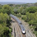 30 Juli 2016: Saint-Cyr-sur-Mer / 702,720 Met trein  6165 van Parijs naar Nice.