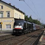 22 Juni 2017: Bonn Oberkasel / ES 64 U2 - 025 NIAG Met een kolentrein richting Bonn