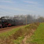 20 April 2015: Boxtel /   01 1075,65 018 SSN Met 1 Mitropa rijtuig naar Rotterdam SSN.