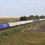 20 September 2017: Heierhoeve / 186 268 Rhenus-Crossrail (43968) Met ekoltrain richting Zeebrugge.
