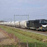 13 Maart 2015: Heeze / 1272 407 RRF (1608) Met lege dolimetrein 47615 naar Sittard.
