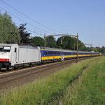 1 Juni 2017: Breda / 186 149 Met een ic van Den haag centraal naar Eindhoven met achterop de 186 006.