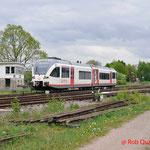 26 April 2014: Simpelveld / Veolia stel 203 bezig met rangeren