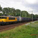 6 Juni 2012: Eindhoven /  1827 (9901) is samen met de NBE 203 163 onderweg als huisvuiltrein uit haanrade en maastricht opweg naar wijster