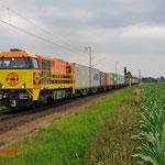 4 Juli 2014: Breyel / 1101 RRF Met Neuss shuttle opweg richting Venlo.