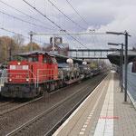 24 November 2017: Helmond Brandevoort / DBC 6411 Met een Militaire trein vanuit Venlo onderweg naar Acht als trein 44781.