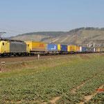 17 Maart 2016: Himmelstadt / 189 931 TXL Met een hupac trein richting Wurzburg