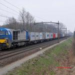 29 Maart 2013: Eindhoven/ 1043 HTRS met de Blerick shuttle naar Maasvlakte-West.