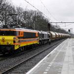 13 Februari 2014: Weert / 4401 (1606) RRF,653-05 met dolimetrein naar Veendam
