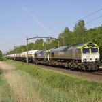 9 Mei 2016: Oisterwijk / 6609,6605 beide van Captrain zijn onderweg met een met beladen LPG trein (47614) Naar lutdsm