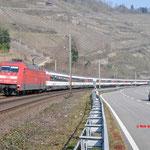18 Maart 2016: Oberwessel / 101 093 DB Met EC 7 naar Interlaken Ost