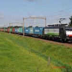 13 Augustus 2014: Hulten/ 189 285 RTB Met Blerick shuttle naar Blerick.