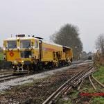 4 December 2014: Wijlre / Unimat 5 bezig met stoppen van de ballast