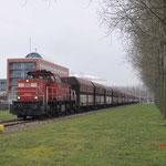 29 December 2017: Amsterdam / 6423 DBC Met een lege kolentrein richting Rietlanden Terminal.