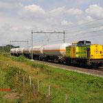 30 Juli 2014: Heeze / 23 RRF met zes gasketelwagens naar Lutdsm.