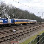 27 Februari 2015: Geldrop / 203-3 VR Met 3 ICR rijtuigen uit maastricht richting Eindhoven.