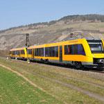 17 Maart 2016: Thungersheim / 1648 704,1648 203 van de Oberpfalzbahn richting Wurzburg