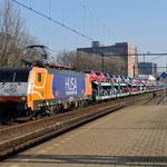 31 Januari 2014: Eindhoven / 189 096 HTRS Met een fordtrein opweg naar de Sloehaven