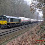 4 December 2014: Venlo / V264 RTB met Butadieen ( UN 1010) en lege wagens voor het vervoer van Gasmengsels (UN 1965).