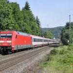 21 Juni 2017: Oberwinter / 101 127 Met IC119 van Munster Hbf naar Inssbruck Hbf.