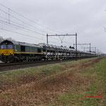 9 Februari 2015: Horst / PB06 RRF met BLG-autotrein richting Roosendaal.