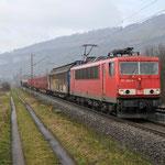 15 Maart 2016: Thungersheim / 155 269 Met een korte unit cargo richting Wurzburg