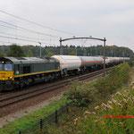 15 Oktober 2014: Tilburg reeshof / PB06 RRF met ketelwagens richting Essen.