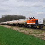 13 April 2015: Breyell / 1506 Locon Met een Keteltrein vanuit Lutdsm onderweg richting Viersen.