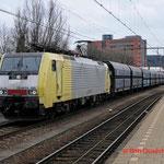 1 Maart 2014: Eindhoven / 189 995 TXL Met een lege kolentrein naar de Amsterdam westhaven.