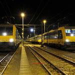25 Januari 2018: Eindhoven / 186 114 staat klaar als 1116 naar Den haag centraal rechts daarvan de 186 020 die eerst als 1114 naar den haag centraal gaat.