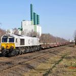 12 Maart 2015: Duisburg / 247 016 DB Met een lege staaltrein richting HKM