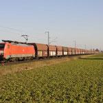 23 Februari 2018: Breyell / 189 066 DBC Met een lege kolentrein richting Maasvlakte.