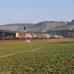 17 Maart 2016: Himmelstadt / 189 452 DB Met een unit cargo richting Wurzburg.