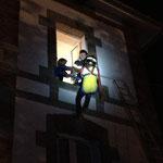 Sauvetage d'une victime évanouie dans l'incendie d'un logement