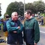 Avec Joël Lefras, maire du Mesnil-Gilbert
