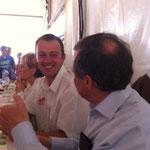 discussion à table avec Jean-François Bouiillon, président des JA de la Manche
