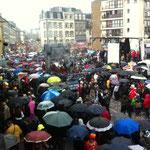Parapluies de Cherbourg égarés sans raison cours Jonville