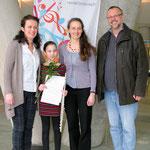 v.l.n.r.:Rozana Nemeth, Klara Lurger, Nya Jemima Gabmair-Cass, Gerhard Stritzl